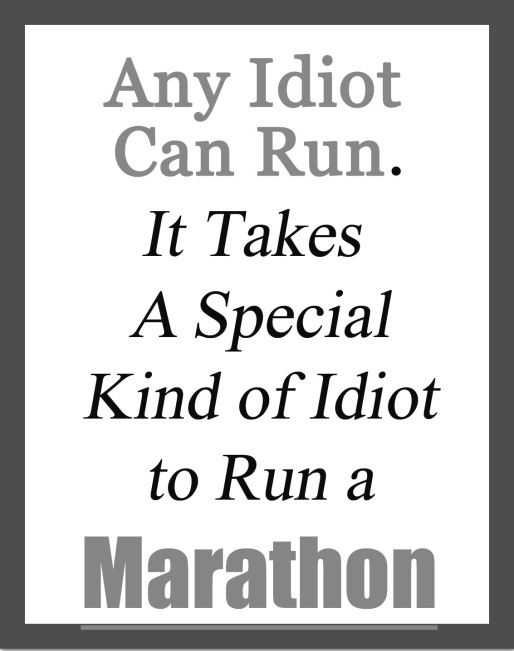 special idiots run marathon copy