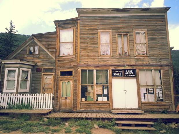 St. Elmo ghost town. One of many old abandoned mining towns in the Rockies. Spooky and beautiful.